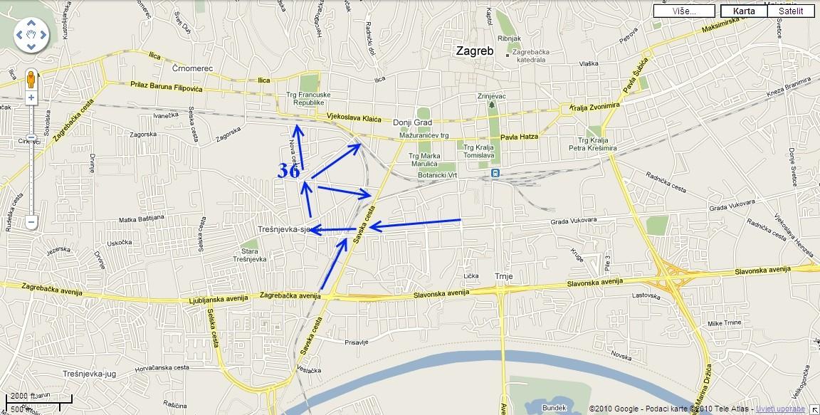 Pregled lokacija